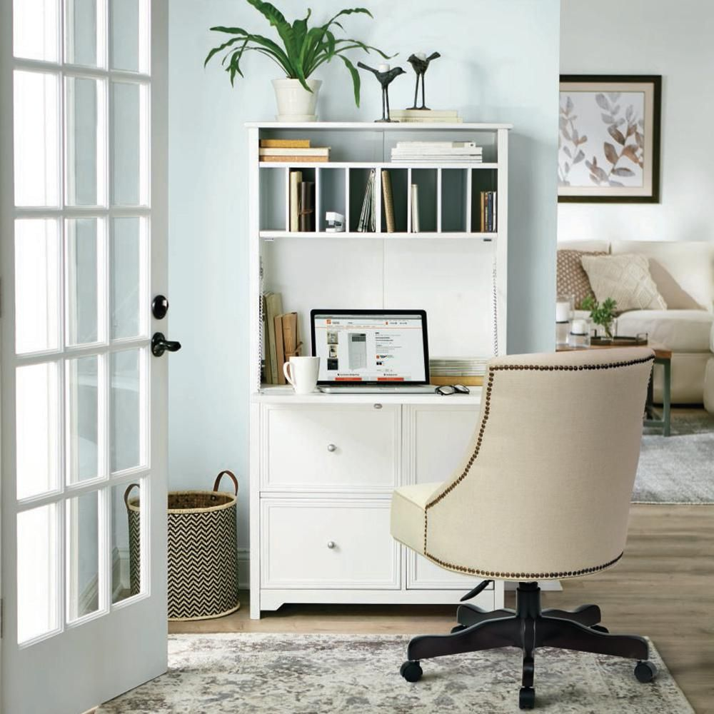 Home Decorators Collection Oxford White Secretary Desk in