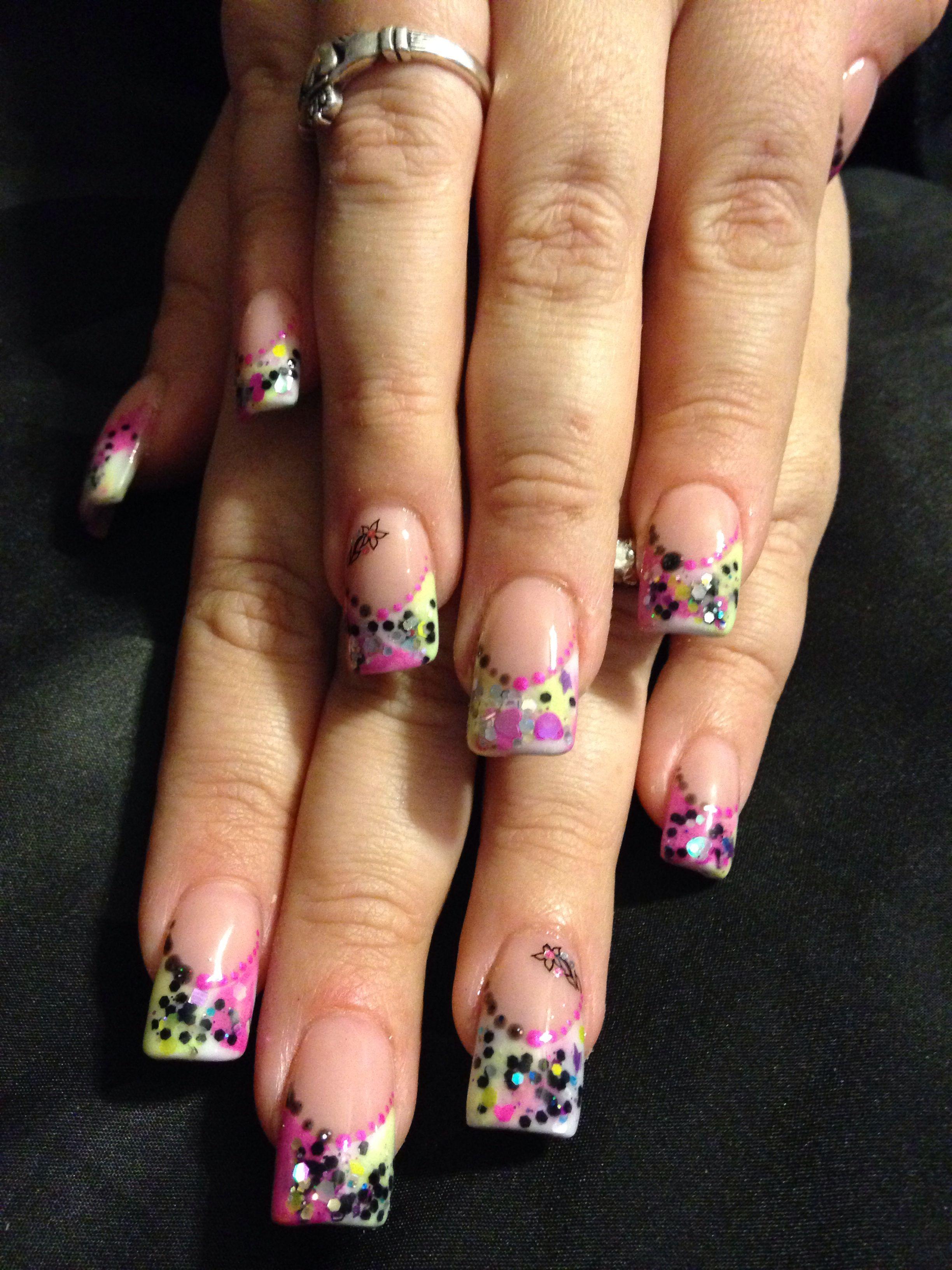Acrylic nails saraus nail designs pinterest hair makeup lips