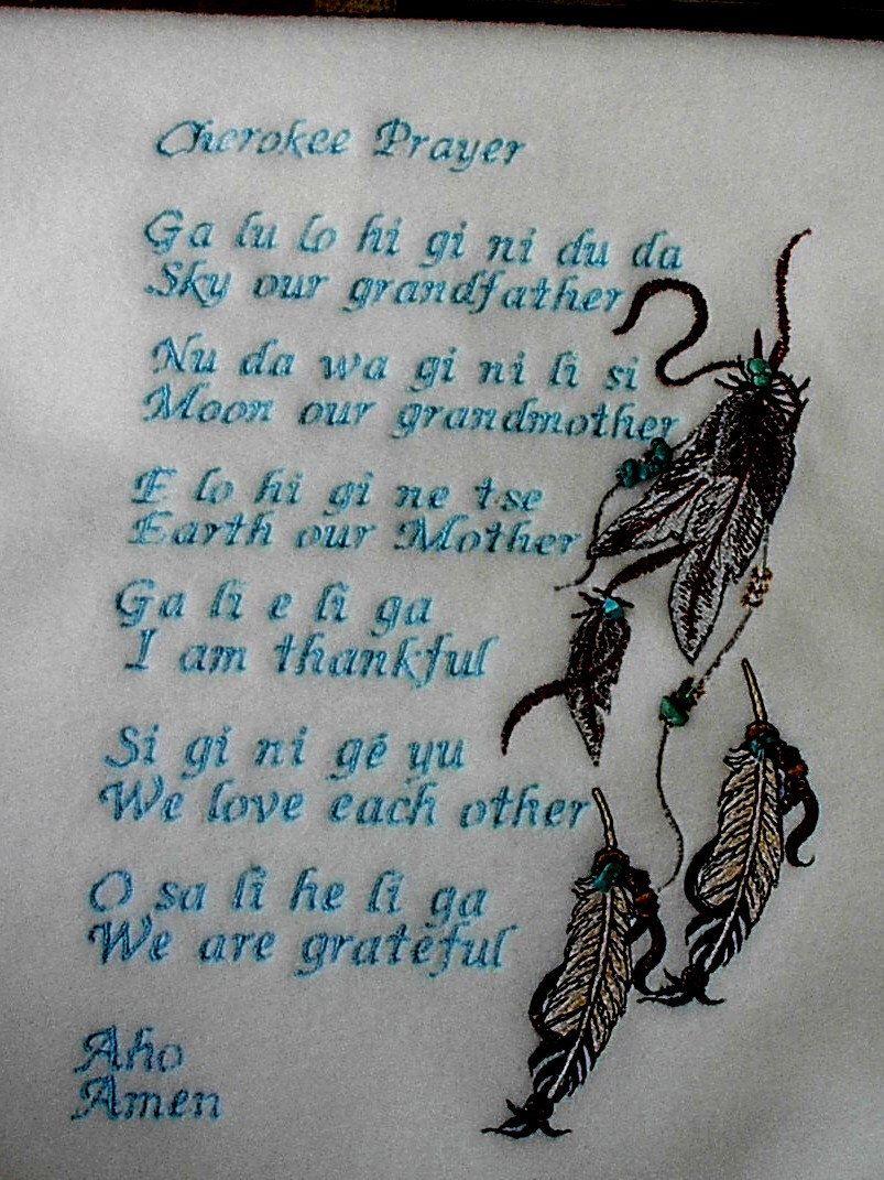 Cherokee Prayer blanket in Cherokee language.. by mjosoriginals on Etsy https://www.etsy.com/listing/462682300/cherokee-prayer-blanket-in-cherokee