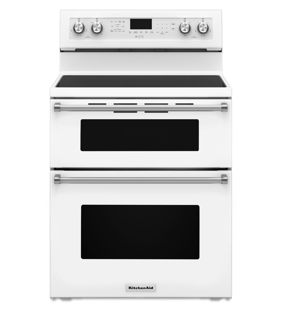30inch 5 burner electric double oven convection range