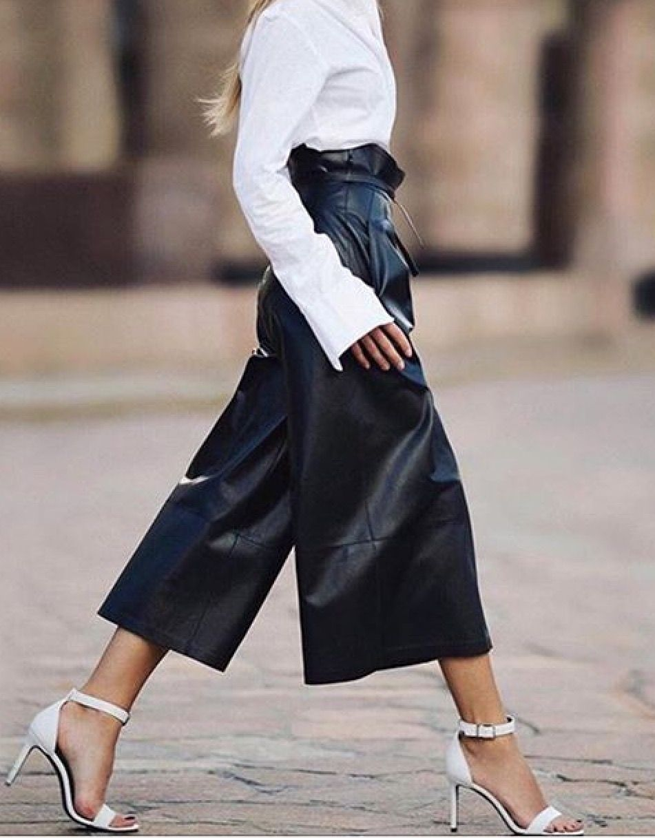Photo of Leather culottes