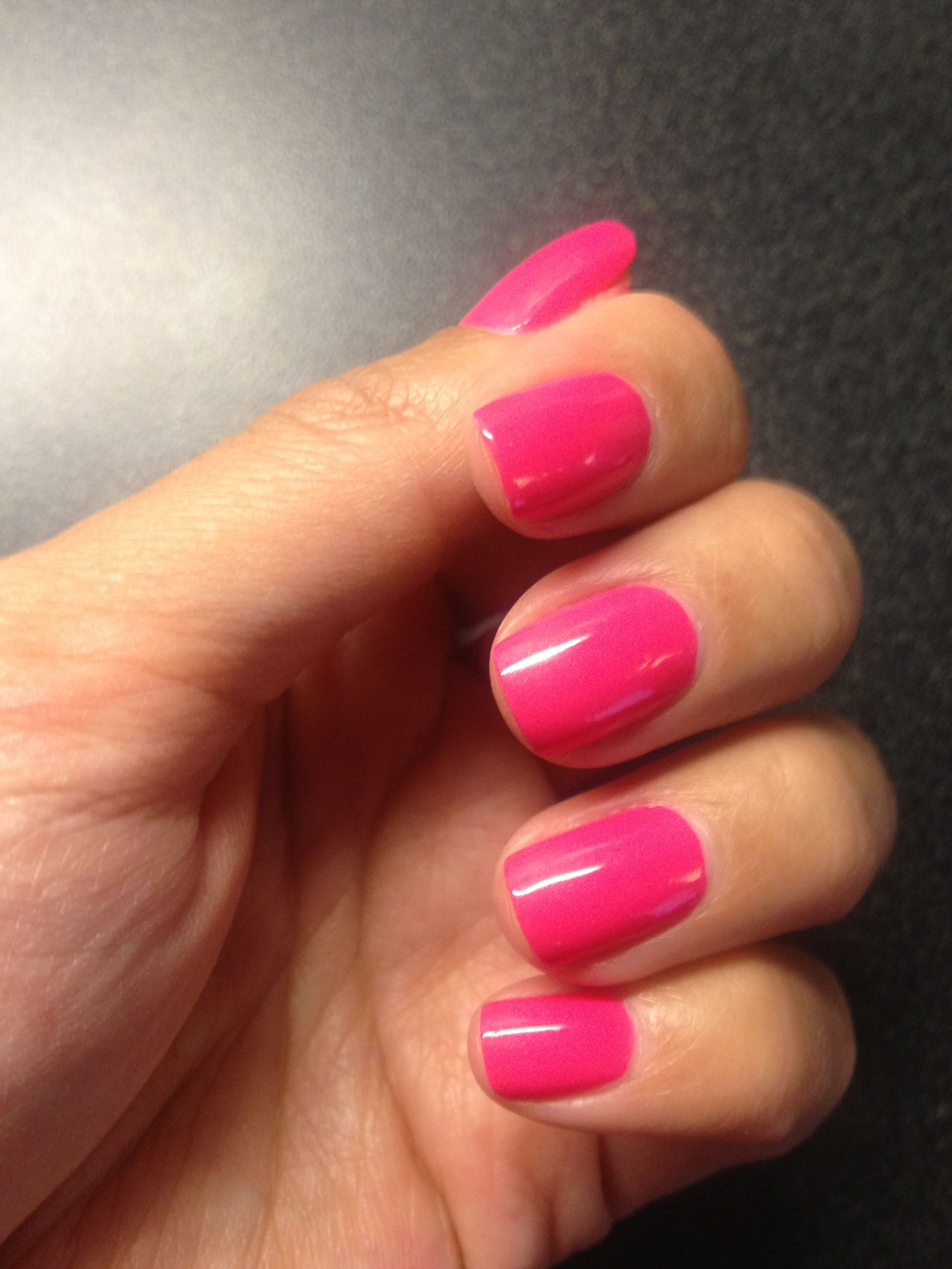 As If Pink Nails... Love my bright- and-in your face pink mani