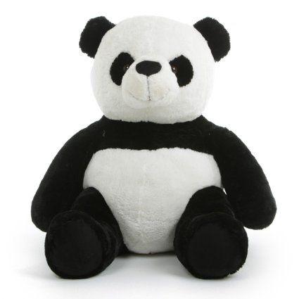 Amazon Com Jumbo Plush Panda Bear 36 Inch Seated Giant Panda 3