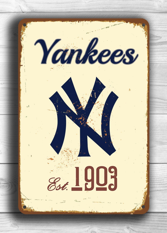 Vintage style New York YANKEES Sign, New York Yankees Est