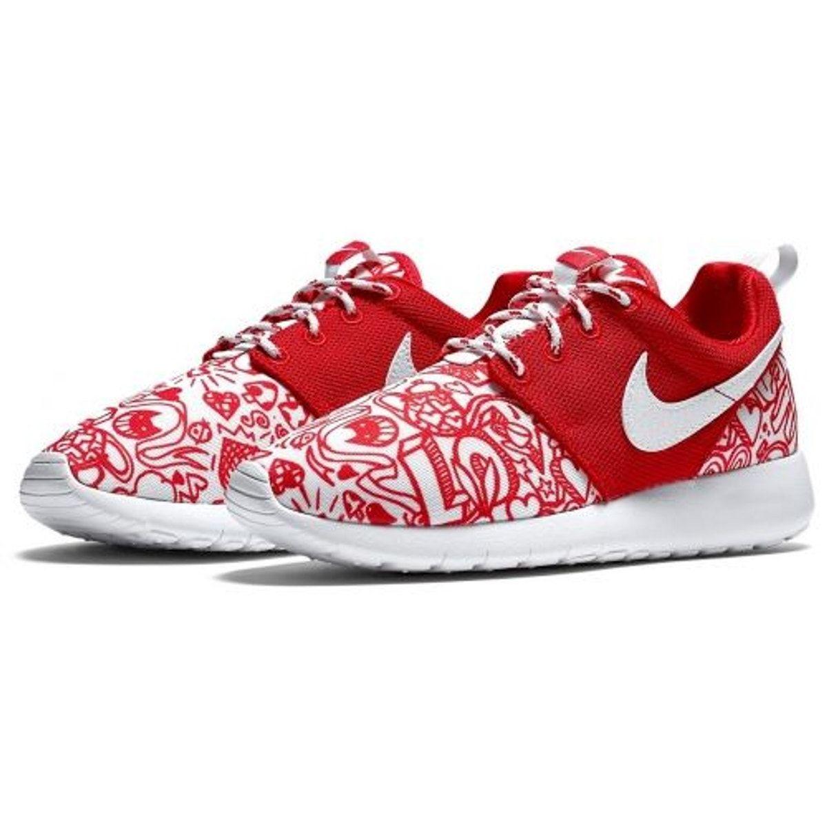 dramático reunirse valores  Roshe One Print (gs) Rouge Taille : 38 12 | Nike roshe
