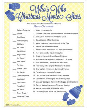 photo about Christmas Movie Trivia Printable named Exciting Xmas Occasion Video game Reindeer Game titles Printable