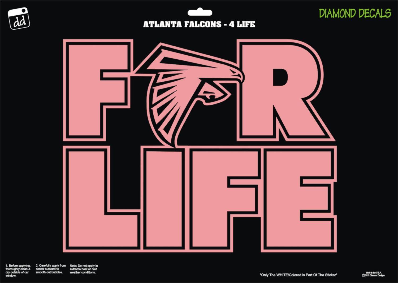 Car sticker design ebay - Atlanta Falcons 4 Life Shield Nfl Football Decal Vinyl Sticker Car Truck Windshield Ipad By Diamonddecalz