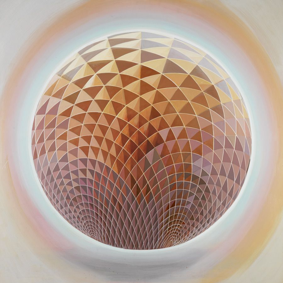 The Grid Sphere painting by Mario Martinez