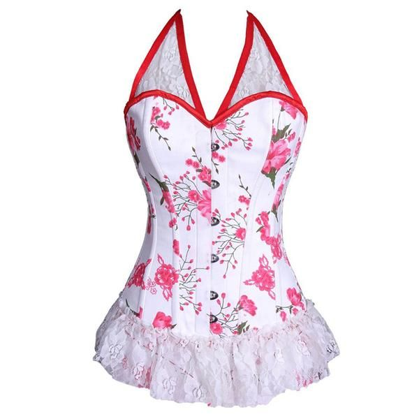 baecac87ef Floral Laced Sweatheart Corset Dress in 2019