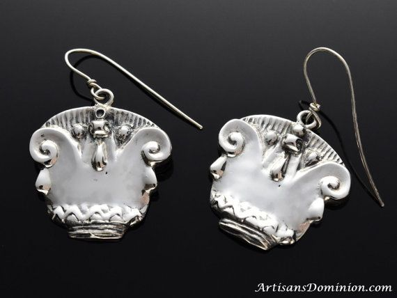 Ancient Egypt Lotus Blossom Earrings, Ancient Egyptian