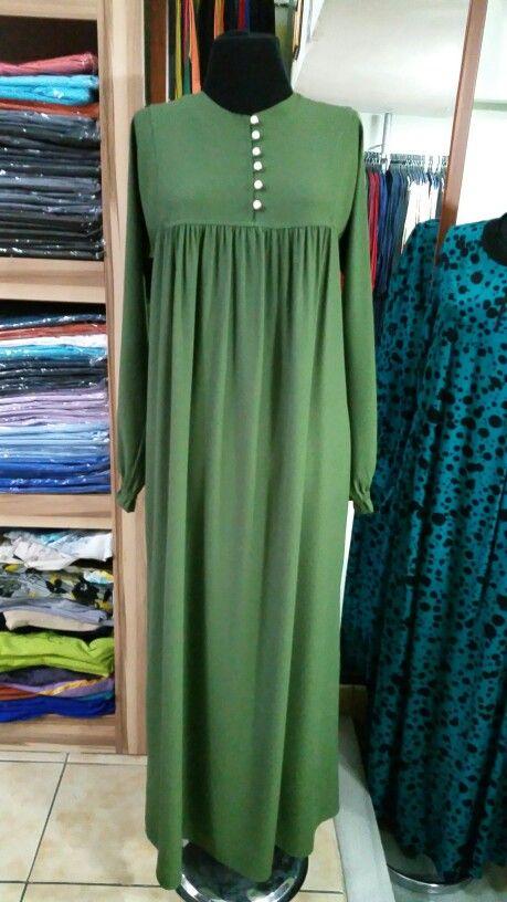 Dugmeli Robali Islami Giyim Elbise Dikis Rehberleri Mutevazi Moda
