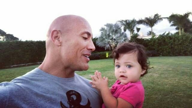 72992127f5fbf Jasmine Lia Johnson ❤ Gorgeous baby girl with her daddy Dwayne Johnson