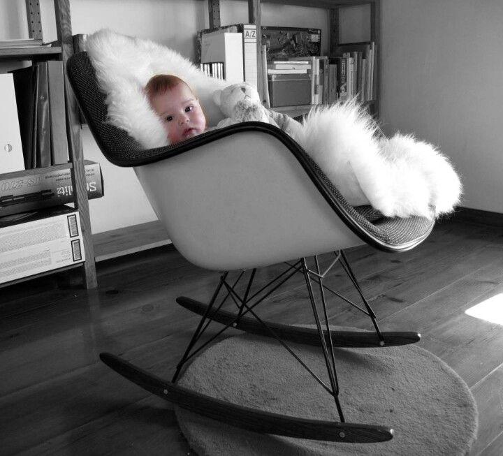 eames rocking chair chairs pinterest eames rocking chair