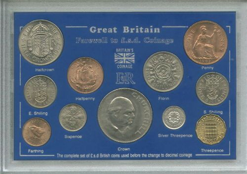 Great Britain Farewell To The Sd System Pre Decimal Old Money 11 Coin Gift Set