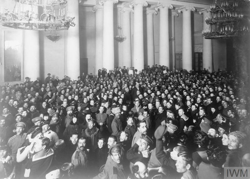 WWI, Russia, early March 1917; A sitting of the Duma. President Micheal Rodzyanko in the centre. ©IWM HU 52723