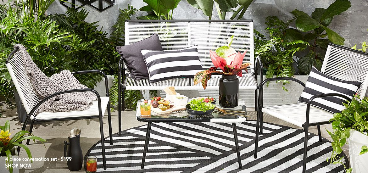 Outdoor Furniture Fit For Any Space Kmart Outdoor Furniture
