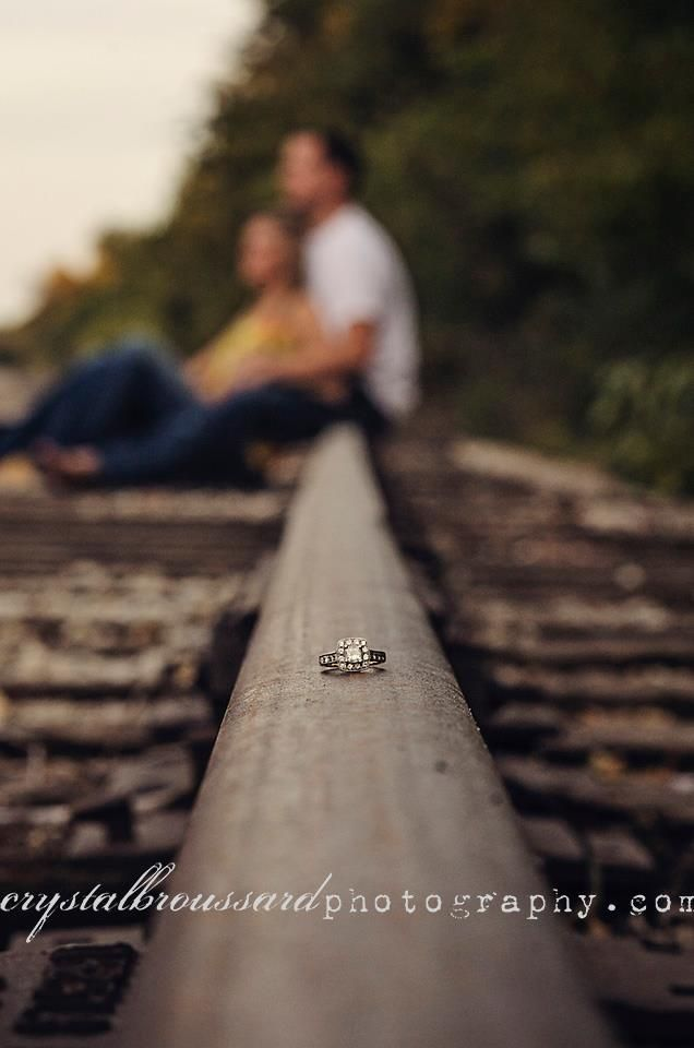Love this pictures.....on local railroad tracks...  Crystal Broussard {Photography} #romanceornot?