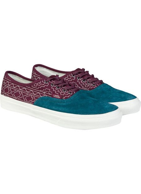 Vans Authentic Slim California Native Embroidery Burgundy - Vans - Mærker ($100-200) - Svpply