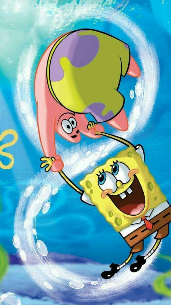 Spongebob Squarepants art wallpaper for iPhone.