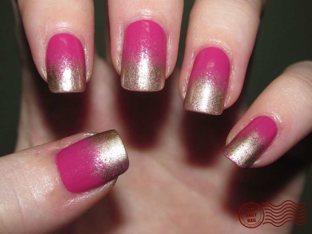 Painted nail art designs art simple pink and gold painted nail painted nail art designs art simple pink and gold painted prinsesfo Choice Image