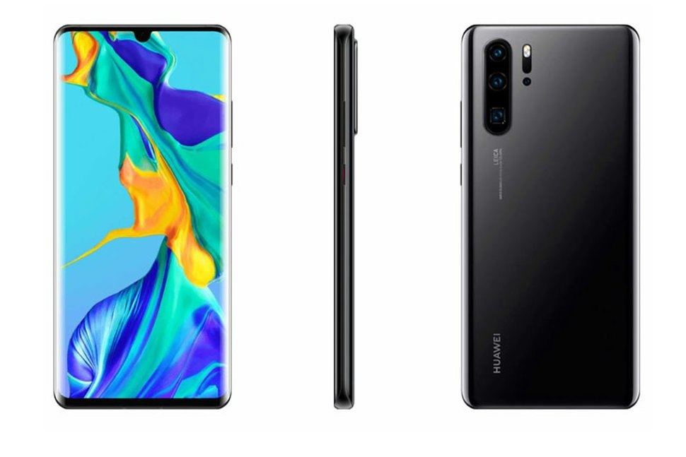 Official Huawei P30 and P30 Pro renders appear, plus more spec