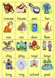 English worksheet Rhyming words Game page 1  sc 1 st  Pinterest & English worksheet: Rhyming words Game page 1 | Kindergarten study ...