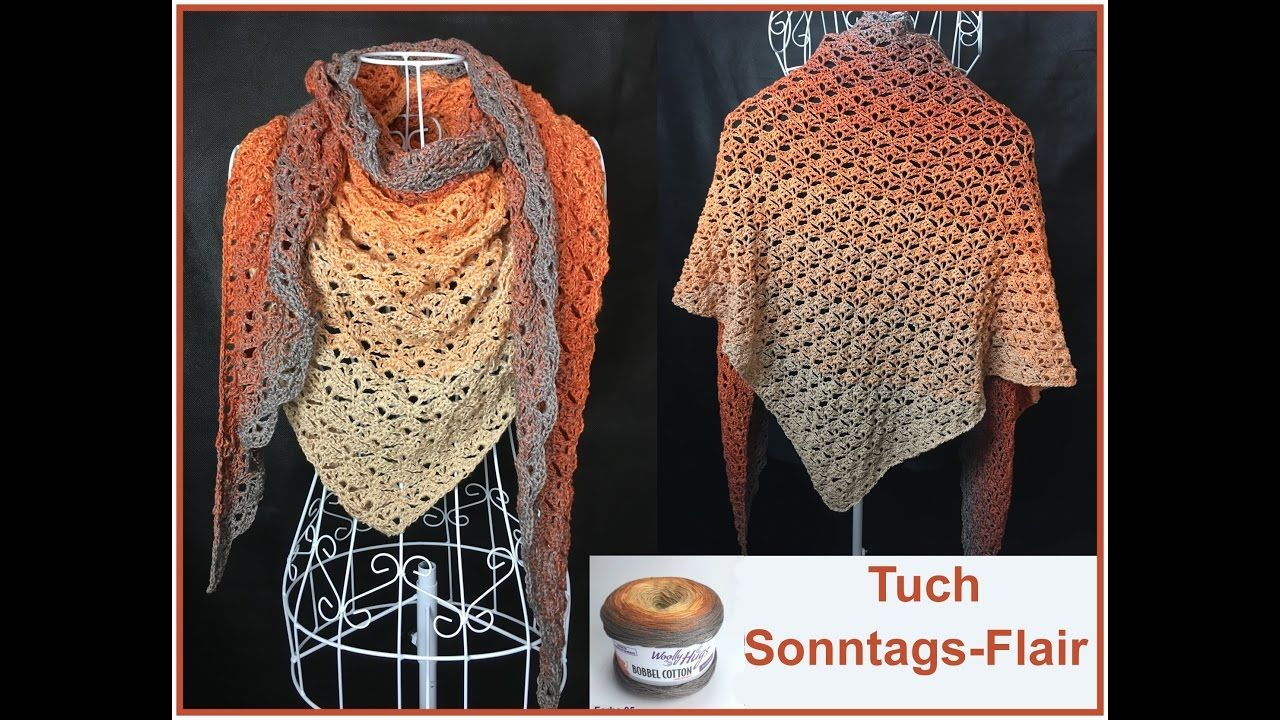 Tuch Sonntags-Flair - Häkeln aus 1 Woolly Hugs BOBBEL - Veronika Hug ...