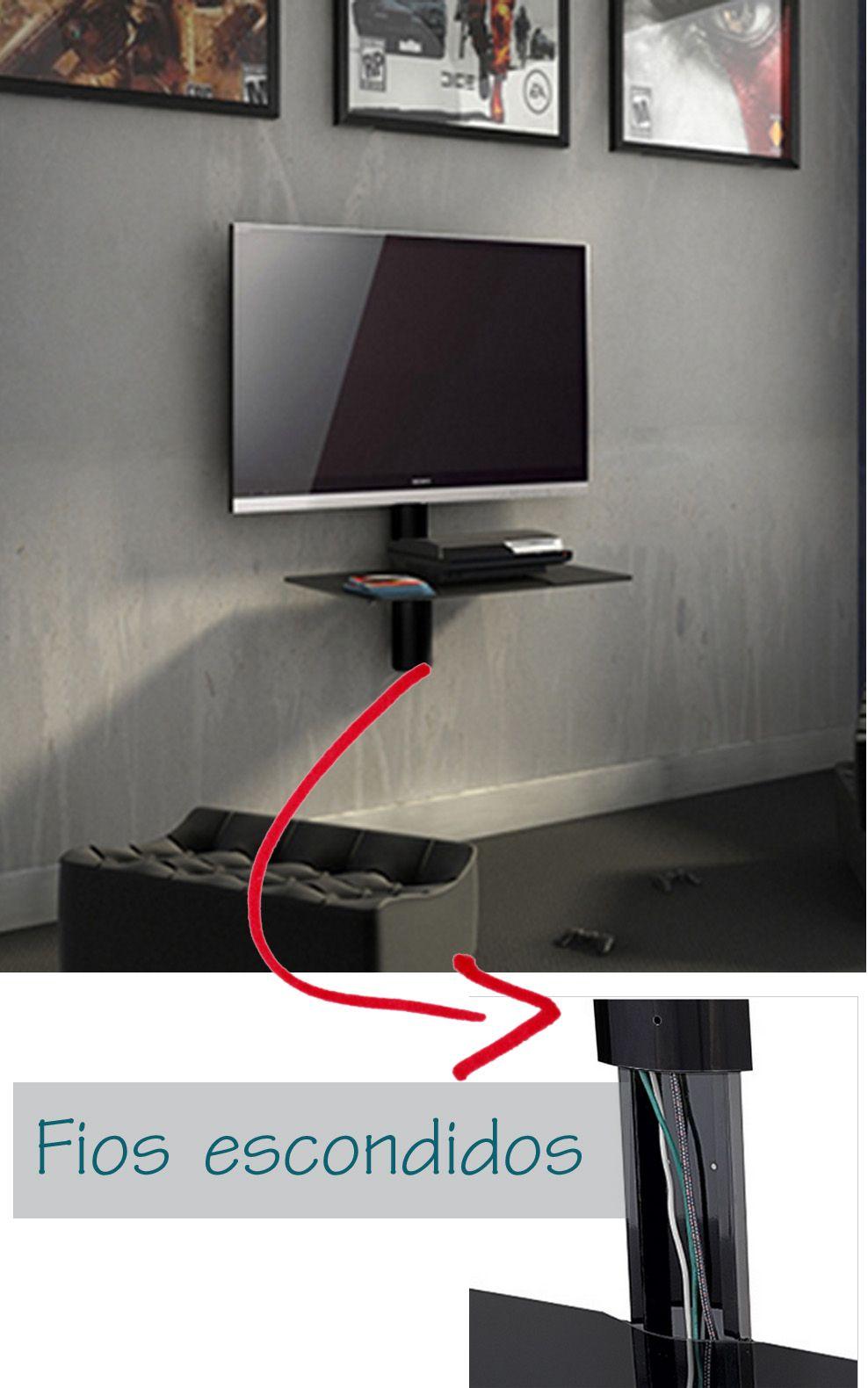 Tv na Parede com Fios Escondidos