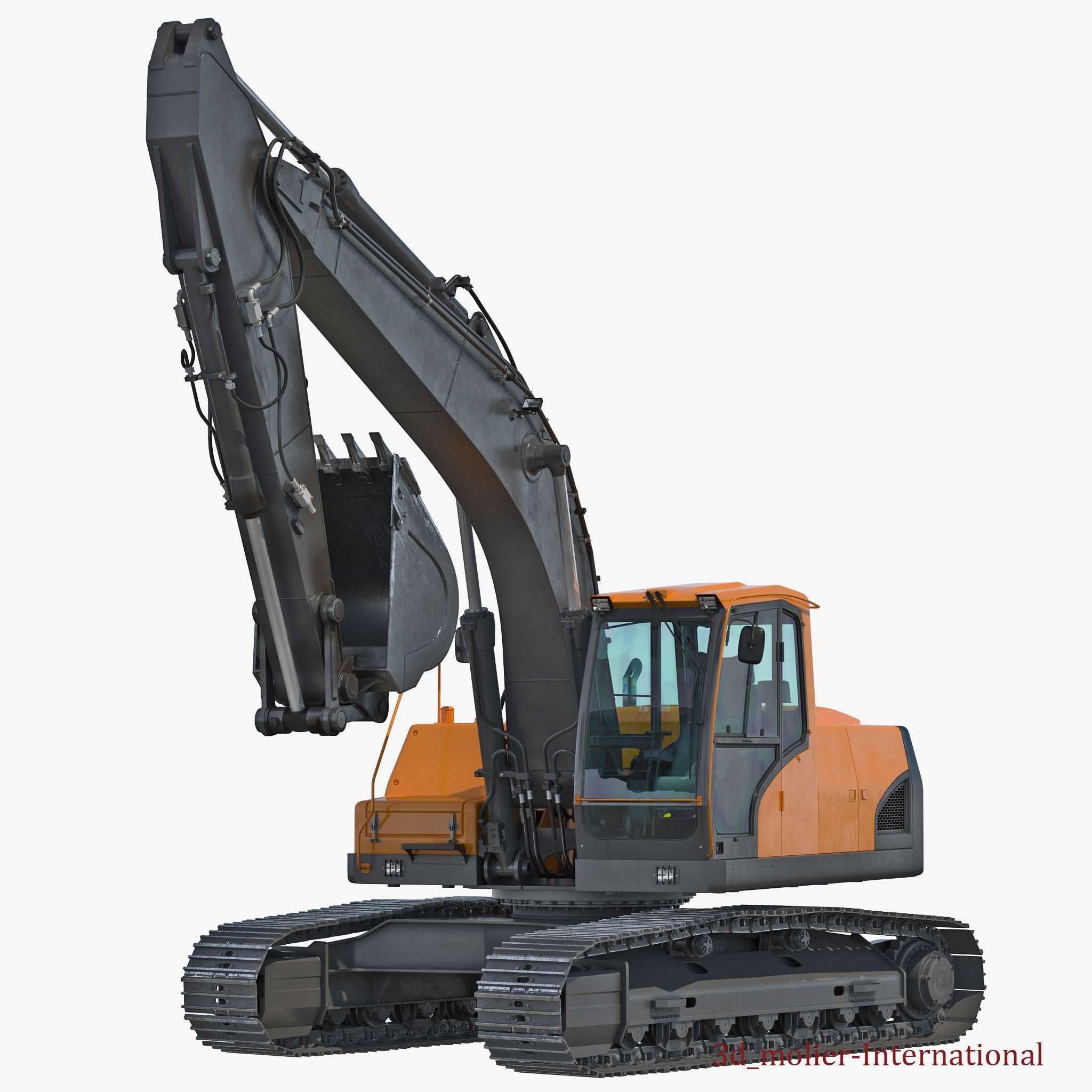 Tracked Excavator Generic Rigged 3d model http://www.turbosquid.com/3d-models/tracked-excavator-generic-rigged-3d-max/921789?referral=3d_molier-International