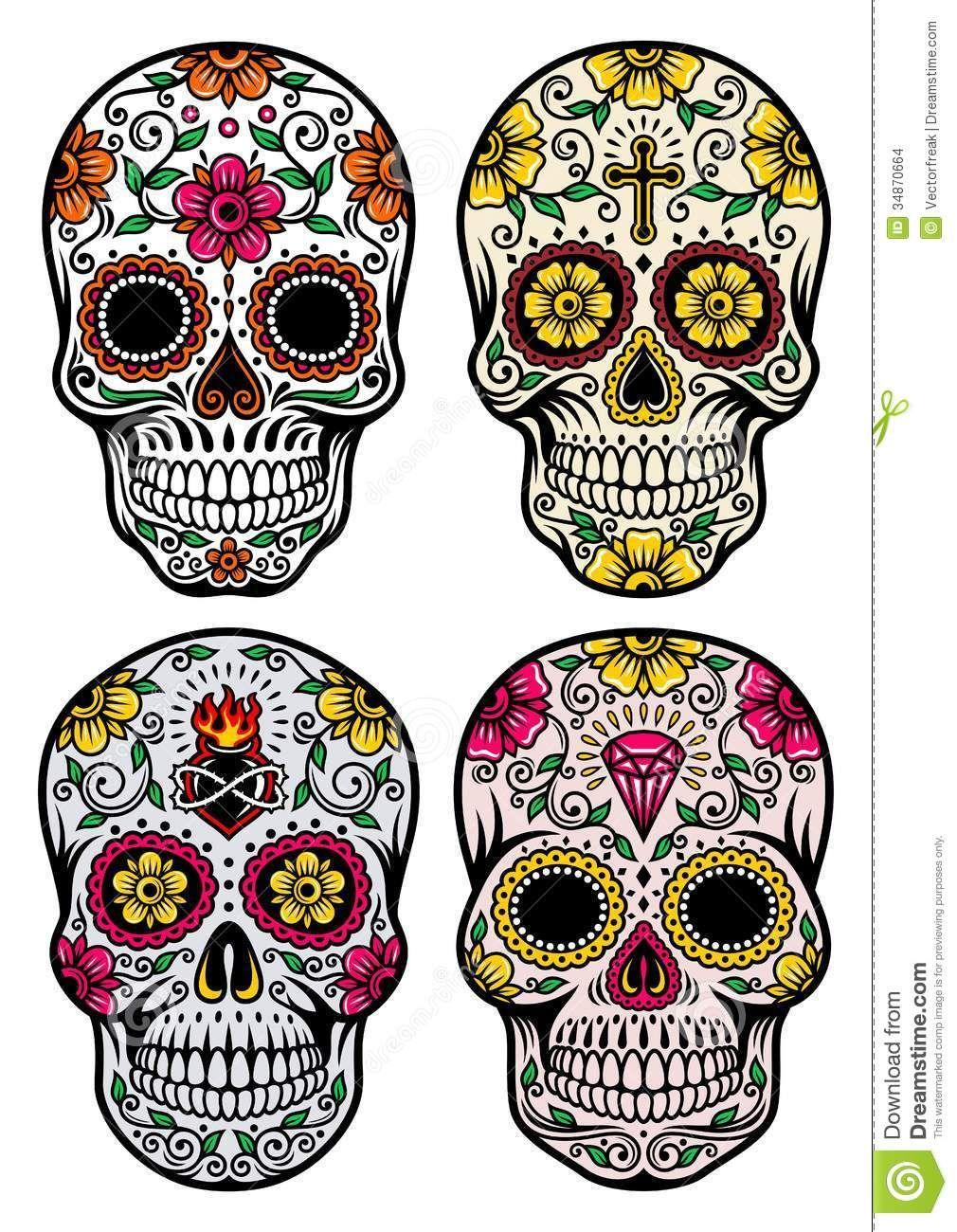 Resultado de imagen para tatuajes de craneos mexicanos hombres ...
