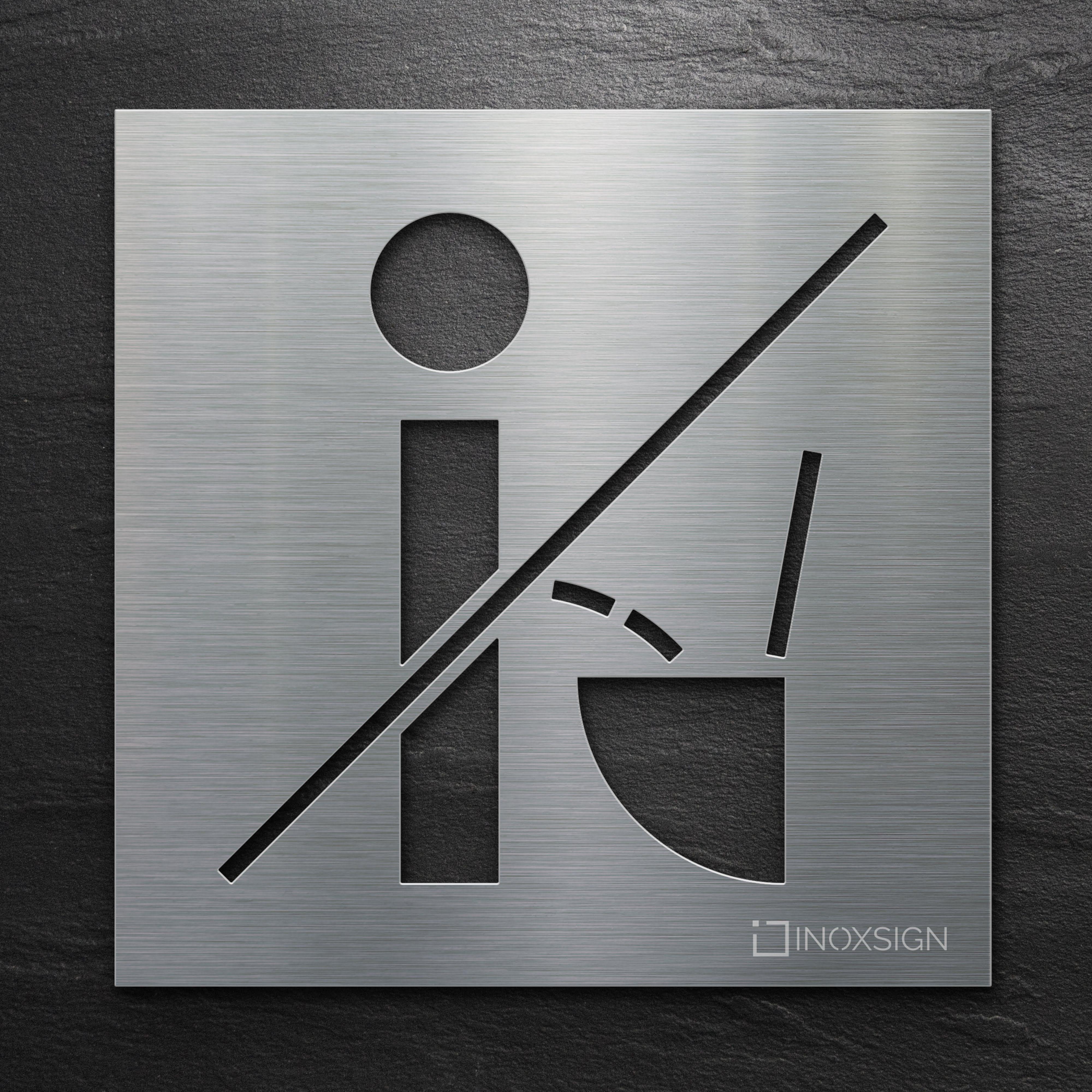 Edelstahl Wc Schild Modernes Toilettenschild Stainless Steel Wc Sign Modern Toilet Sign Wc Schild Toilettenschilder Toiletten Schilder