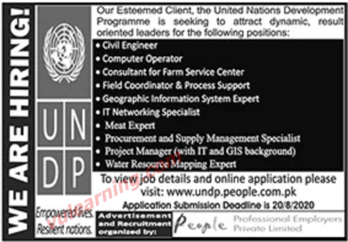 United Nations Development Programme Undp Pakistan Latest Jobs August 2020 Development Programs The Unit Supply Management