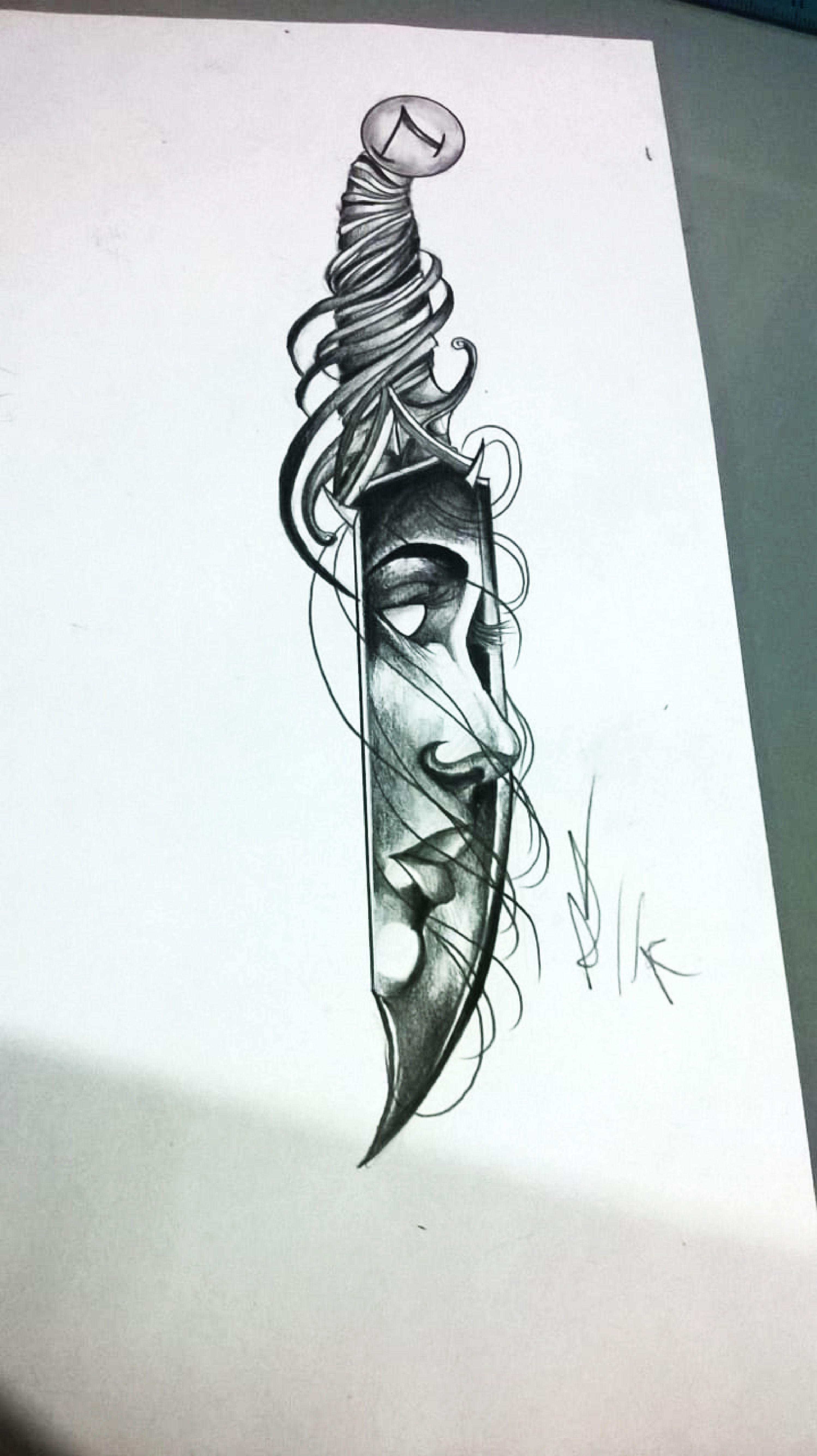 Cuchillo Rostro Mujer Sleeve Tattoos Body Art Tattoos Tattoos For Guys