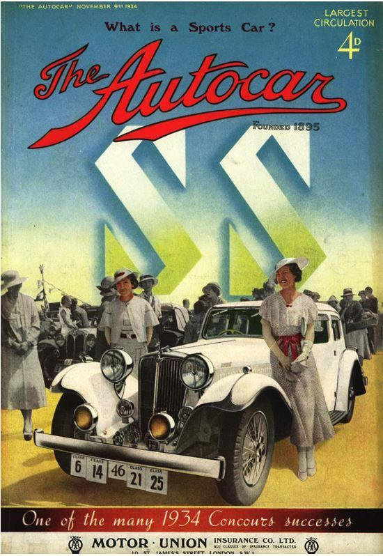 1934 jaguar ss cover reiseziele pinterest alte werbung werbung und oldtimer. Black Bedroom Furniture Sets. Home Design Ideas