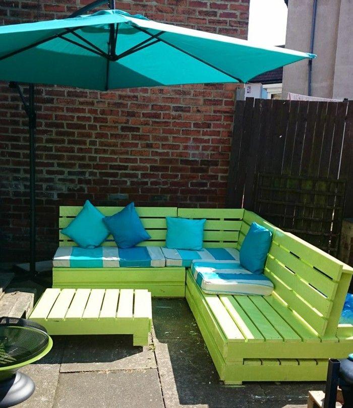 hellgrüne gartenbank selber bauen Garten Pinterest - gartenbank selber bauen