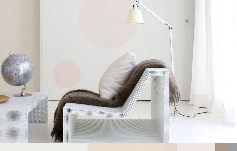 Kreismotive an der Wand im skandinavisch eingerichteten Wohnzimmer - ideen fur wohnzimmer streichen
