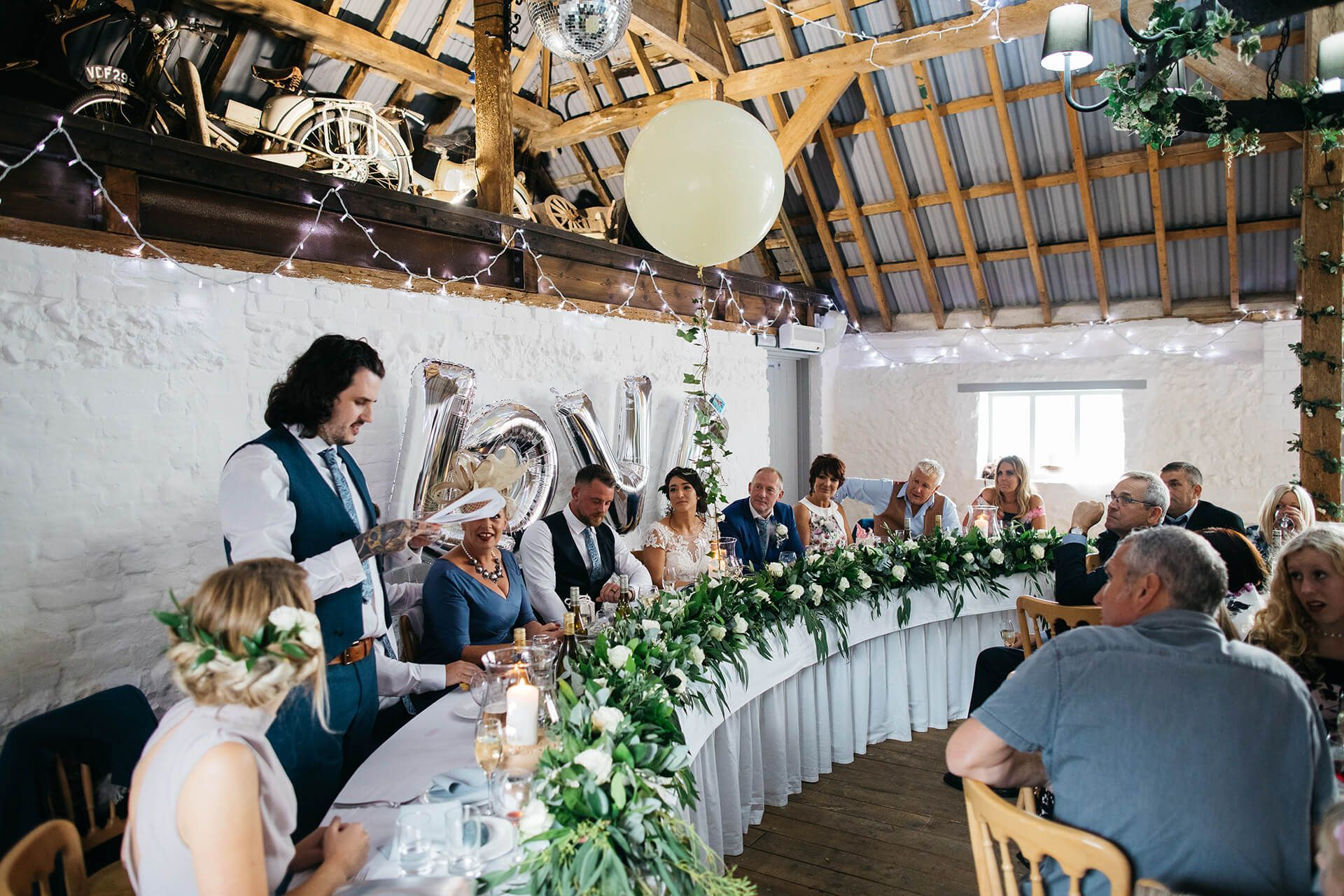 Design your own wedding dress scotland  White u Green Outdoor Wedding at The Red Barn Kent with Justin
