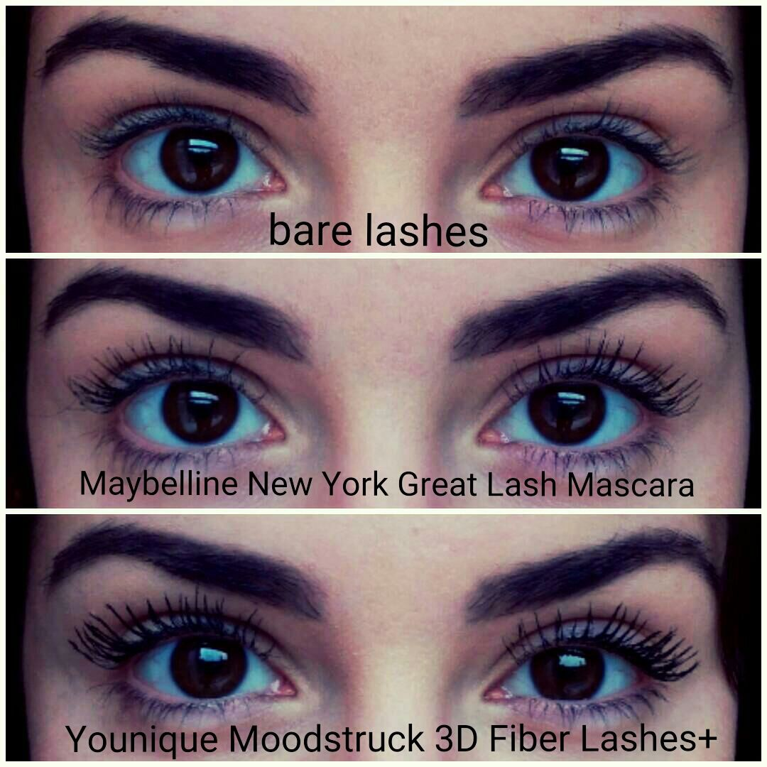 f5e1d22343f One coat of Maybelline New York Great Lash Mascara... and then an  application of Younique Moodstruck 3D Fiber Lashes+. It definitely enhances  the look ...