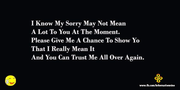 Sorry SMS - I'm Sorry Love Poems, SMS, Quotes, Pics and ...