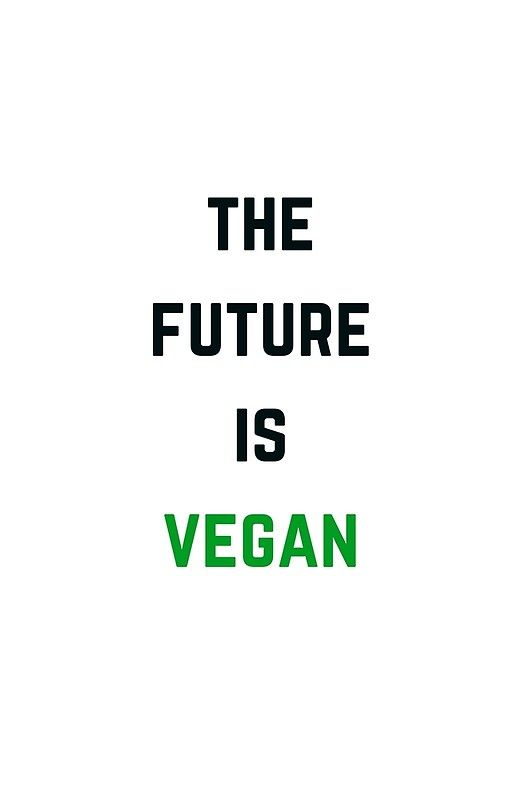 'THE FUTURE IS VEGAN' Framed Print by IdeasForArtists