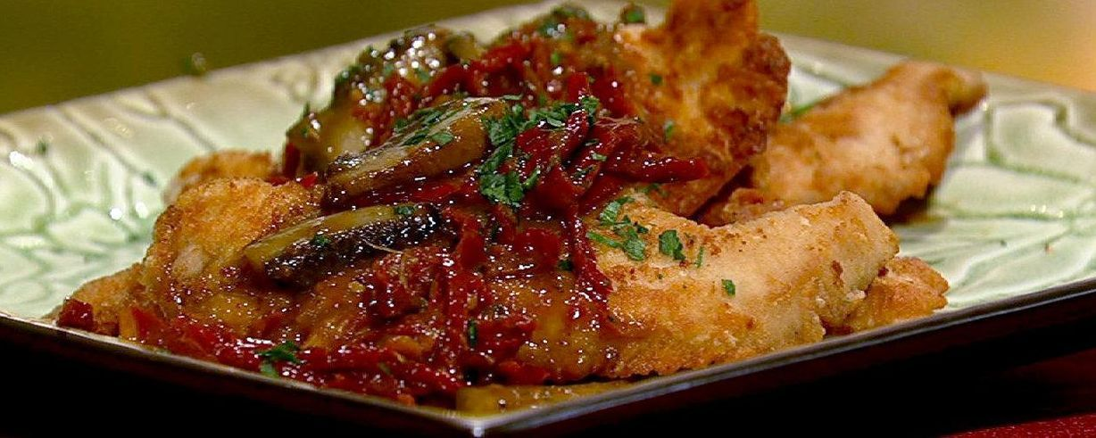 Michael symons turkey cutlets with sundried tomatoes and