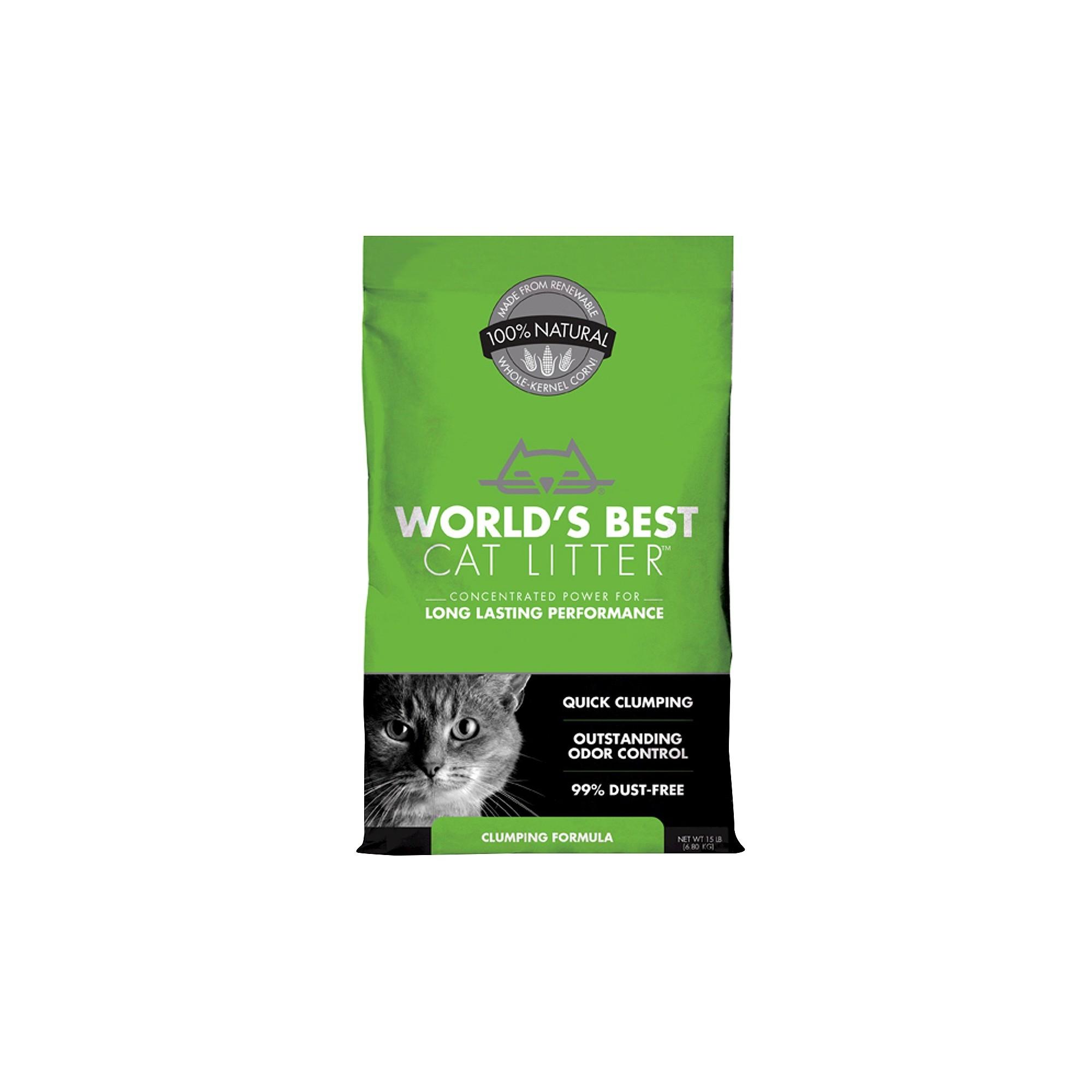 World's Best Cat Litter Clumping Cat Formula 15lbs
