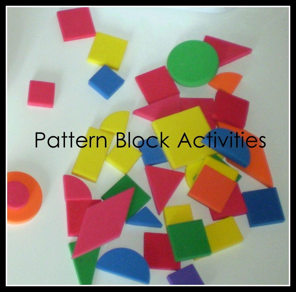 The Activity Mom: Pattern Block Activities  @Shauna wanna