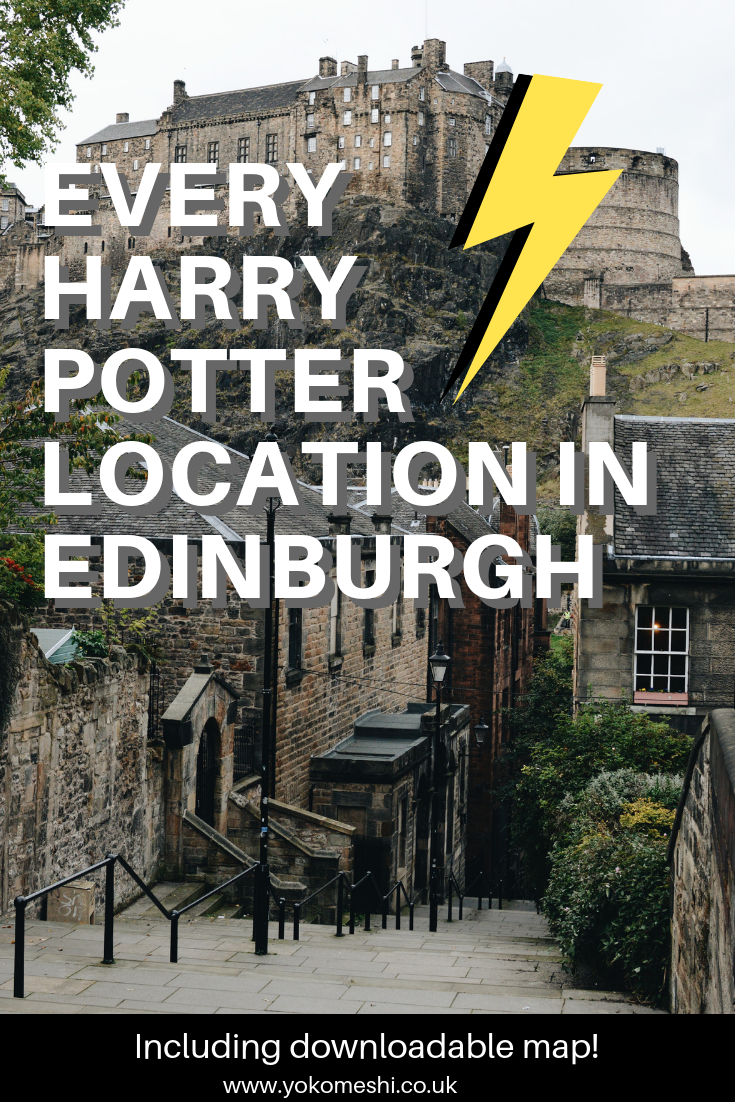 Free Self Guided Harry Potter Tour In Edinburgh Including Map Harry Potter Locations Harry Potter Tour Edinburgh Travel