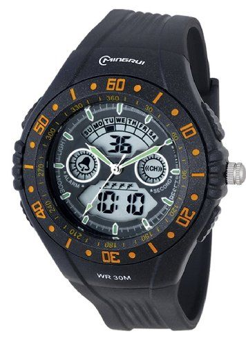 20% Off was $19.89, now is $15.89! 30m Water-proof Digital-analog Boys Girls LED Sport Watch with Alarm Stopwatch Chronograph MR-8008012AD-6