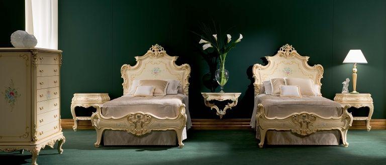 End tables  floating night stand! 783 Silik Dream Bedroom Set - schlafzimmer barock