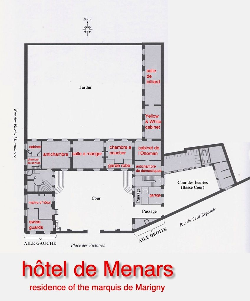 Hôtel de menars plan du rez de chaussée