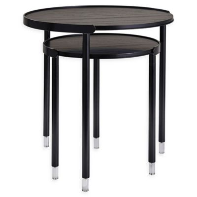 Adesso Blaine Wood Nesting Tables In