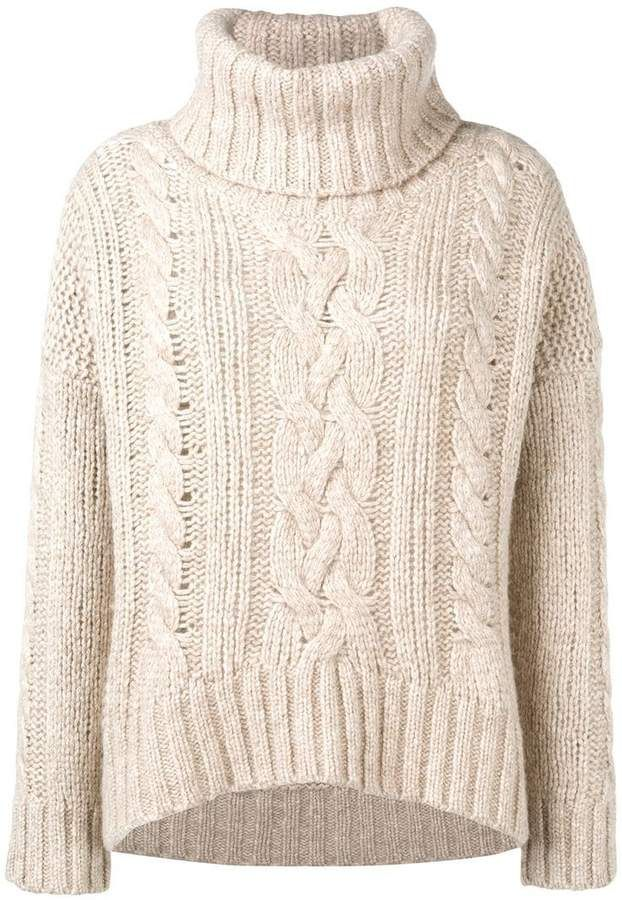 691608fff0673f Woolrich oversized knit jumper | Products | Jumper, Knitting, Sweaters