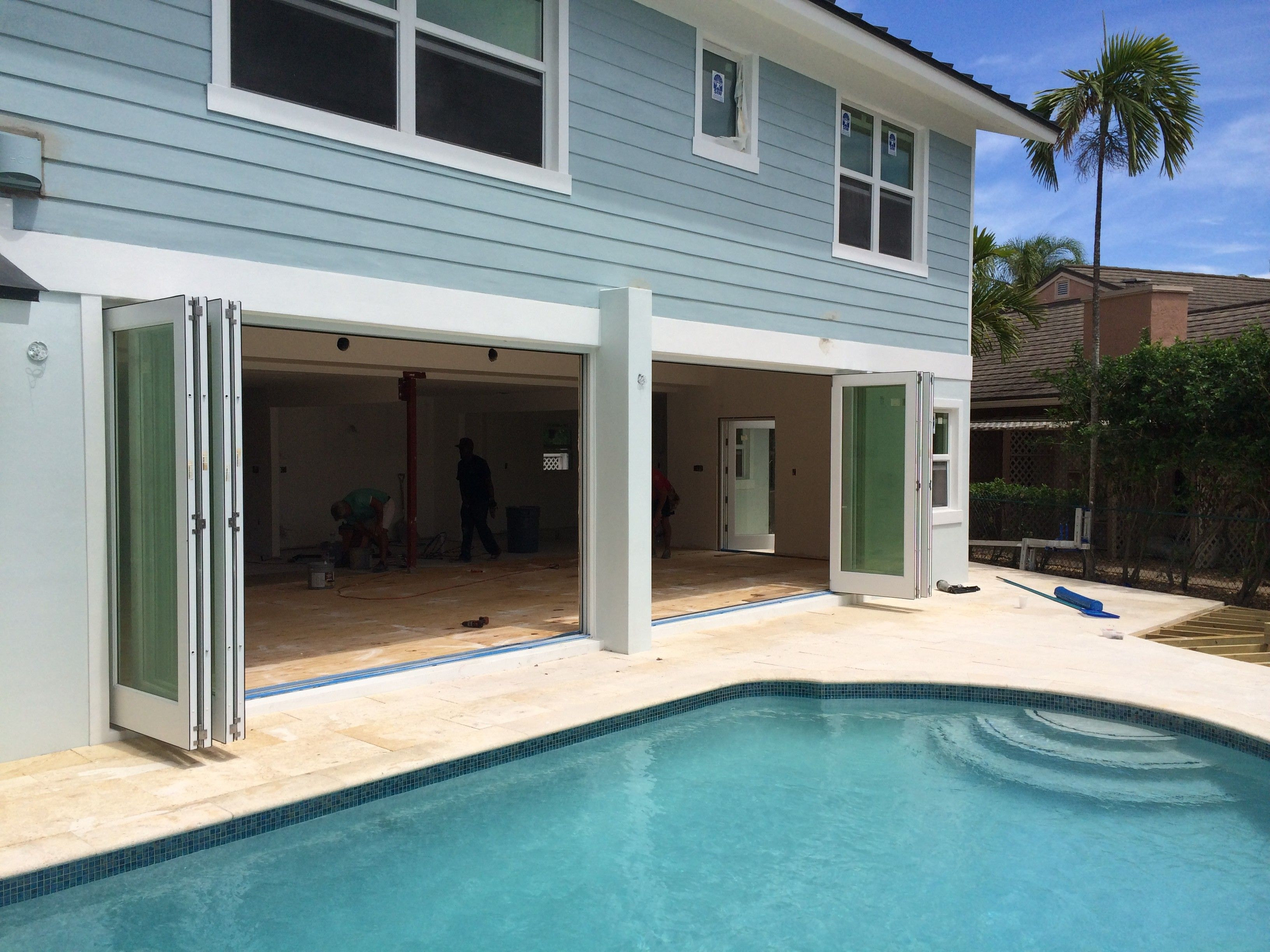 Exterior Double Bi Fold Glass Patio Door Near Out Door Pool Bi Fold Patio  Doors